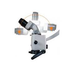 Bevegeligk kikkert på mikroskop