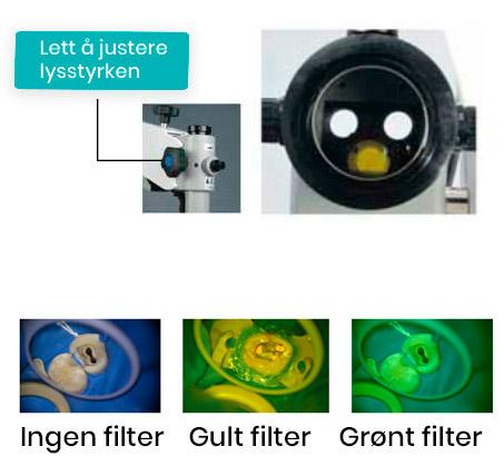 Mikroskop med filter