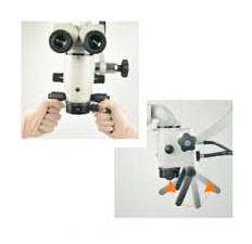 Roterende håndtak på mikroskop